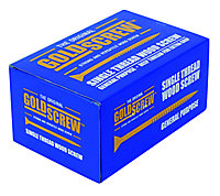 Goldscrew PZ Double-countersunk Yellow-passivated Carbon steel Screw (Dia)4mm (L)30mm, Pack of 200