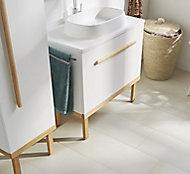 GoodHome Adriska Natural Ash Vanity unit feet (H)260mm (W)800mm