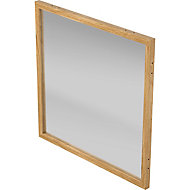 GoodHome Alara Natural Frosted Glass Modular Room divider panel (H)1m (W)1m
