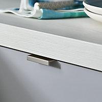 GoodHome Andali Brushed Chrome effect Anodised Aluminium Bar Handle (L)47mm, Pack of 2