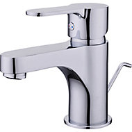 GoodHome Arsuz 1 lever Chrome-plated Contemporary Basin Mono mixer Tap
