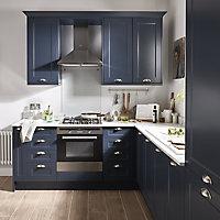 GoodHome Artemisia Midnight blue classic shaker Highline Cabinet door (W)300mm