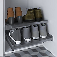 GoodHome Atomia Full extension Pull-out shoe rack (W)464mm