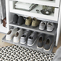 GoodHome Atomia Full extension Pull-out shoe rack (W)964mm