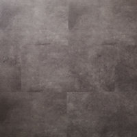 GoodHome Bachata Grey Tile effect Click flooring, 2.6m² Pack