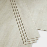 GoodHome Bachata Silver Wood effect Luxury vinyl click flooring, 2.56m² Pack