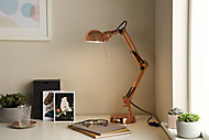 GoodHome Bakossi Copper effect Table light