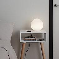 GoodHome Baoule White LED Table light