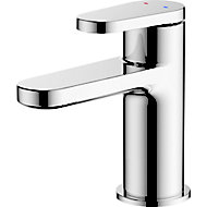 GoodHome Berrow 1 lever Chrome-plated Contemporary Basin Mono mixer Tap