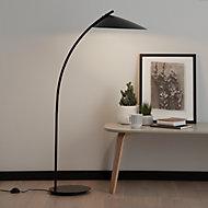 GoodHome Bindarri Matt Black Floor light