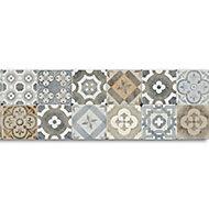 GoodHome Borago Multicolour Tile effect Textured Border
