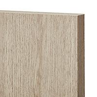GoodHome Chia Light oak effect slab Highline Cabinet door (W)500mm (T)18mm