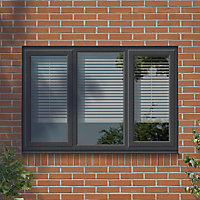 GoodHome Clear Double glazed Grey uPVC LH Window, (H)1040mm (W)1770mm