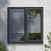 GoodHome Clear Double glazed Grey uPVC LH Window, (H)965mm (W)1190mm