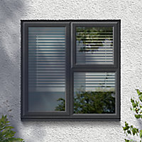 GoodHome Clear Double glazed Grey uPVC Right-handed Top hung Window, (H)965mm (W)905mm