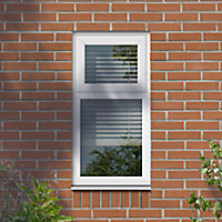 GoodHome Clear Double glazed White uPVC Top hung Window, (H)1040mm (W)905mm
