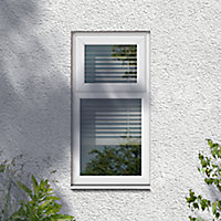 GoodHome Clear Double glazed White uPVC Top hung Window, (H)820mm (W)610mm