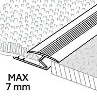 GoodHome DECOR 10 Gloss Silver effect Carpet to flooring trim (L)93cm