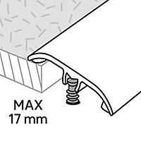 GoodHome DECOR 10 Silver effect Threshold (L)180cm