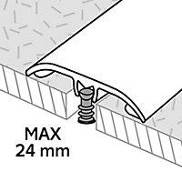 GoodHome DECOR 120 Dark grey Concrete effect Threshold (L)93cm