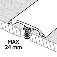 GoodHome DECOR 20 Matt Silver effect Threshold (L)180cm