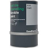 GoodHome Durable Bronx Matt Wall tile & panelling paint, 750ml