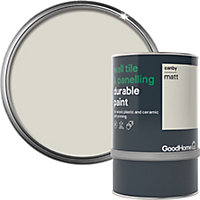 GoodHome Durable Canby Matt Wall tile & panelling paint, 750ml