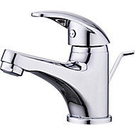 GoodHome Eidar 1 lever Chrome-plated Contemporary Basin Mono mixer Tap