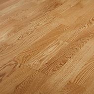 GoodHome Elkins Natural Oak Real wood top layer flooring, 1.58m² Pack