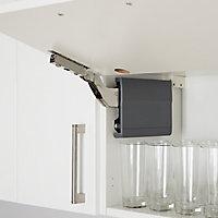GoodHome Enden SF00AL Soft-close 107° Bridging door hinge, Pack of 1