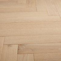 GoodHome Eslov Natural Oak Real wood top layer flooring, 1.94m² Pack