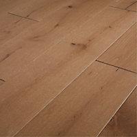 GoodHome Fryatt Natural Oak Real wood top layer flooring, 1.37m² Pack