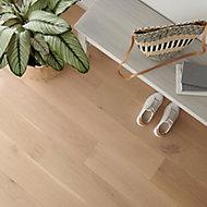 GoodHome Goodsir Natural Oak Real wood top layer flooring, 1.56m² Pack