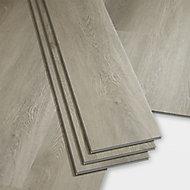 GoodHome Gospel Grey Wood effect Luxury vinyl click flooring, 1.95m² Pack