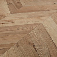 GoodHome Heanor Natural Light oak effect Laminate Flooring, 2.7m² Pack