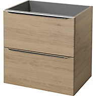 GoodHome Imandra Oak effect Wall-mounted Vanity & basin Cabinet (W)600mm (H)600mm
