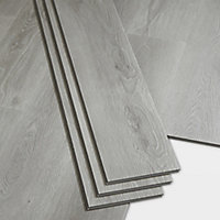 GoodHome Jazy Grey Wood effect Luxury vinyl click flooring, 2.2m² Pack