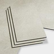 GoodHome Jazy Ivory Tile effect Luxury vinyl click flooring, 1.86m² Pack