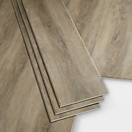GoodHome Jazy Natural grey Wood effect Luxury vinyl click flooring, 2.24m² Pack of 8