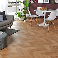 GoodHome Jazy Natural Parquet effect Luxury vinyl click flooring, 2.24m² Pack