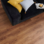 GoodHome Jazy Rustic Oak effect Luxury vinyl click flooring, 2.24m² Pack