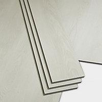GoodHome Jazy White Wood effect Luxury vinyl click flooring, 2.2m² Pack