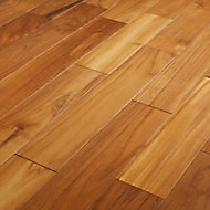 GoodHome Krabi Natural Wood Solid wood flooring, 1.29m² Pack