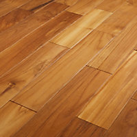 GoodHome Krabi Natural Wood Solid wood flooring, 1.29m² Pack