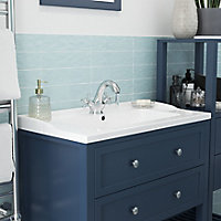 GoodHome Lana Counter-mounted Counter top Basin (W)80.4cm