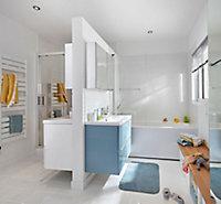 GoodHome Lana Counter-mounted Counter top Basin