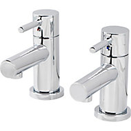 GoodHome Lazu Basin Pillar Tap