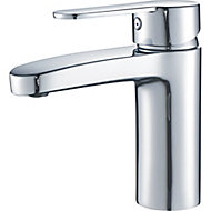 GoodHome Lecci 1 lever Chrome-plated Contemporary Basin Mono mixer Tap