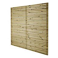 GoodHome Lemhi Contemporary Closeboard Venetian Autoclave Fence panel (W)1.8m (H)1.8m