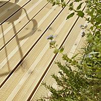 GoodHome Lemhi Green Pine Deck board (L)4.8m (W)144mm (T)27mm